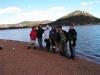 boys by lake